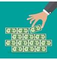 Human hand takes money vector image vector image