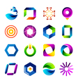 Icon design based on letter O vector image vector image
