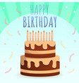 kid happy birthday concept background cartoon vector image