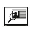 laptop sign black icon on vector image
