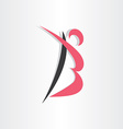 letter b man icon stylized vector image vector image