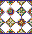 mexican talavera ceramic tile pattern ethnic folk vector image vector image