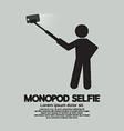 Monopod Selfie Self Portrait Tool For Smartphone vector image