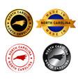 north carolina badges gold stamp rubber band vector image
