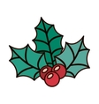 ornament with leaves Christmas and berrys vector image vector image