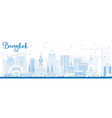 Outline Bangkok Skyline with Blue Landmarks vector image vector image