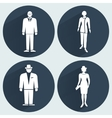 People icon set Office business meeting vector image