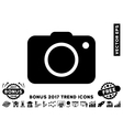 Photo Camera Flat Icon With 2017 Bonus Trend vector image vector image