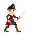 pirate girl costume masquerade teen party female vector image vector image