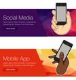 presentation template mobile screen vector image vector image
