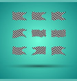 racing background set collection of 9 checkered vector image