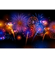 Realistic colorful Fireworks vector