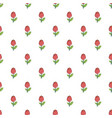 red flower pattern vector image