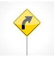 Right Curve Sign vector image vector image