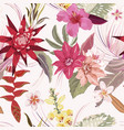 seamless tropic floral autumn pattern vector image