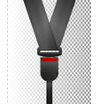 seat belt icon isolated on white background vector image vector image