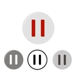 set pause buttons vector image