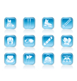 ski and snowboard equipment icons vector image vector image