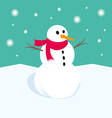 Snowman in winter Xmas vector image vector image