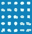 Speech Bubble color icons on blue background vector image vector image