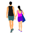 summer couple in love walking and holding hands vector image vector image