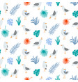 summer seamless pattern with seagulls in cute vector image vector image
