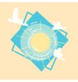 sun icon summer sea vacation concept summertime vector image vector image