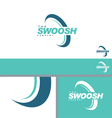 Swoosh Half Abstract Symbol Branding Design Elemen vector image