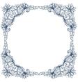 Vintage victorian floral frame vector image vector image