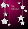 white paper christmas stars vector image vector image
