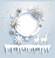 winter design with deers vector image vector image