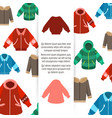 winter jackets poster vector image vector image