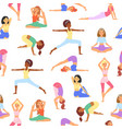 yoga seamless pattern beautiful girls body vector image vector image