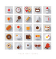 your day icon set life work flat vector image