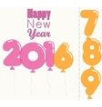 New Year 2016 transparent balloons vector image