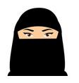 muslim woman face arabic female in niquab vector image