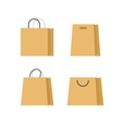 Shopping bags paper set isolated on white vector image