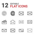 12 address icons vector image vector image