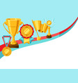 awards and trophy vector image vector image