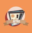 bank check retro shopping vintage label vector image
