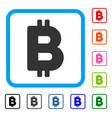 bitcoin letter framed icon vector image vector image
