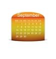 Calendar September 2015 vector image