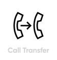 call transfer icon editable line vector image vector image