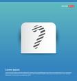 candy cane icon - blue sticker button vector image vector image