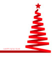 christmas tree ribbon banner eps 10 illu vector image