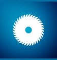circular saw blade icon isolated saw wheel vector image