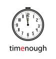 clock logo vector image