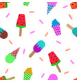 colorful ice cream pattern vector image vector image