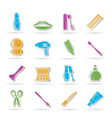 Cosmetic and hairdressing icons