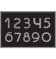 crochet numbers set handicraft signs white yarn vector image